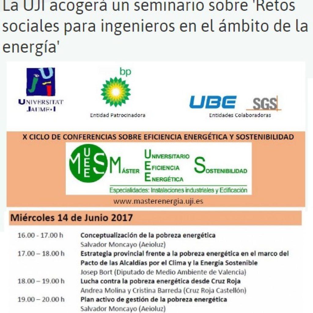 Jornada reptes social per a la enginyeria en l'àmbit de l'energia